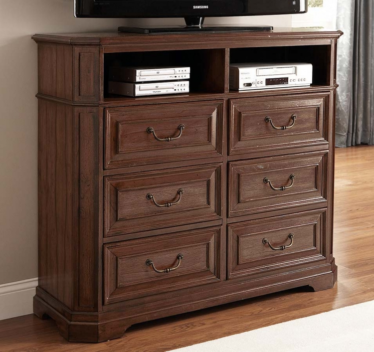 Edgewood Media Chest - Cherry - Coaster