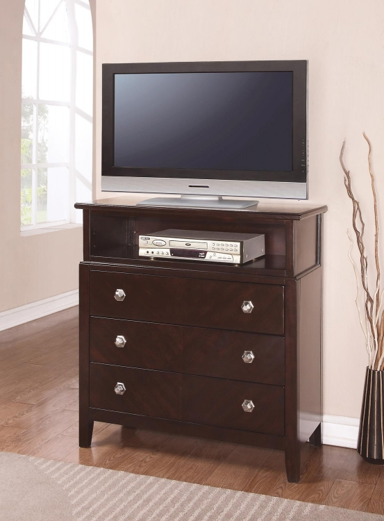 Albright Media Chest - Cherry
