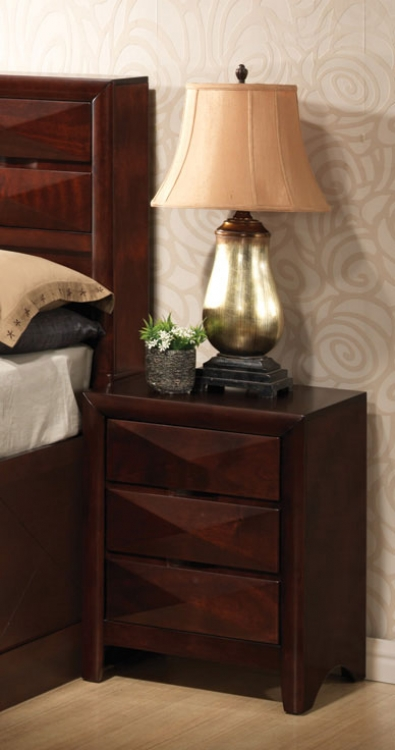 Bree Night Stand - Brown Cherry - Coaster