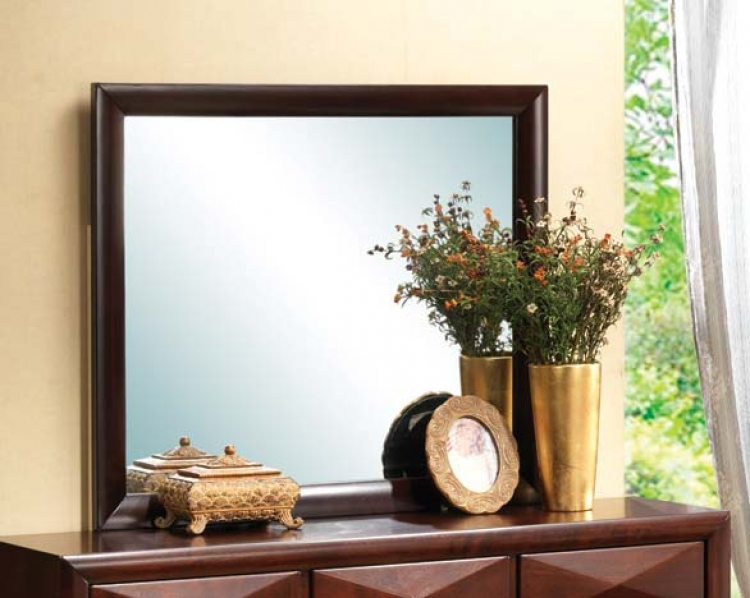 Bree Mirror - Brown Cherry