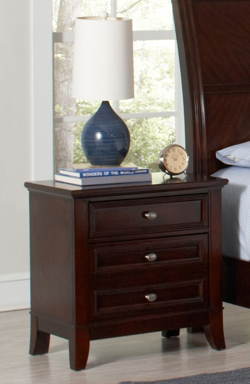 Findley Night Stand - Dark Cherry