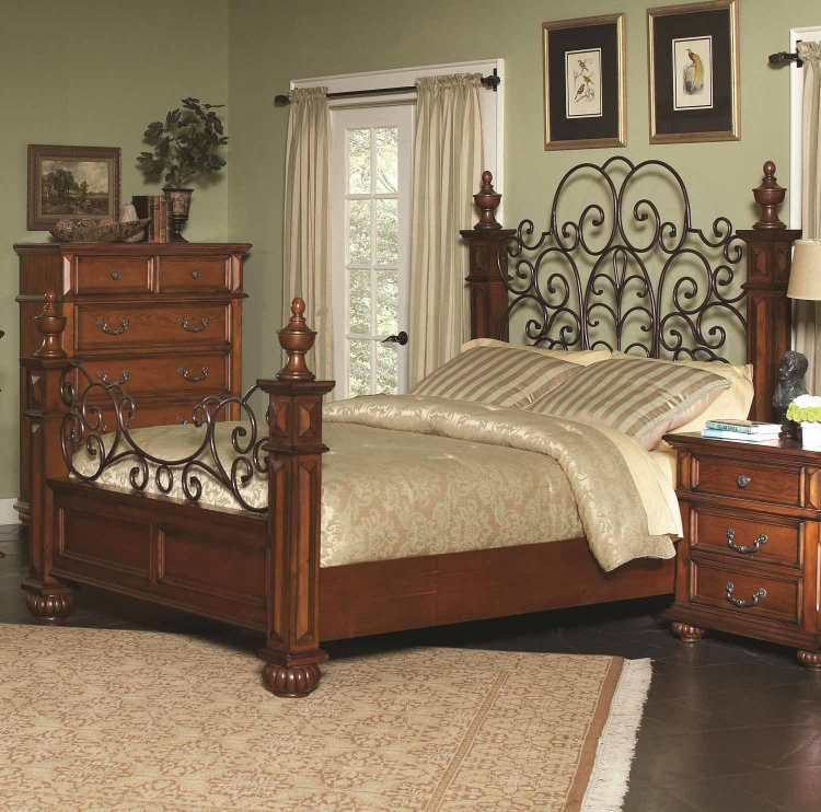 Kessner Bed - Oak