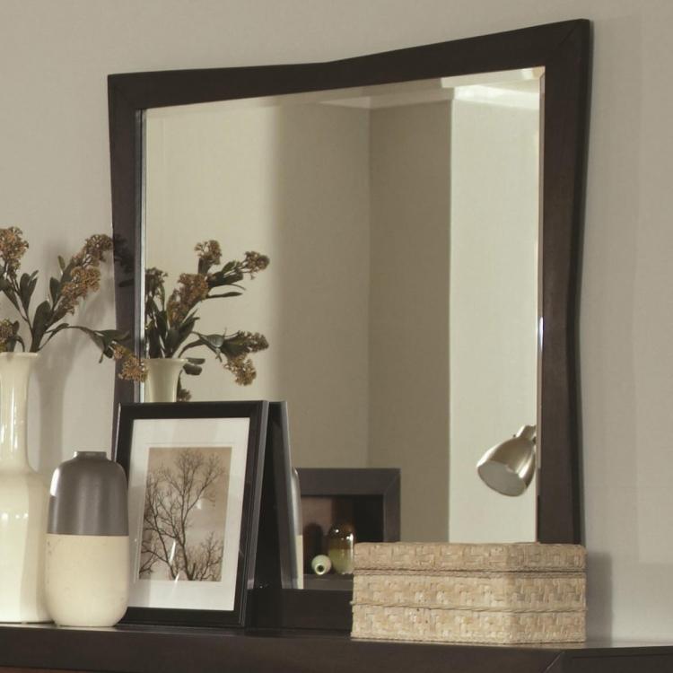 Rolwing Mirror - Reddish Oak/Espresso