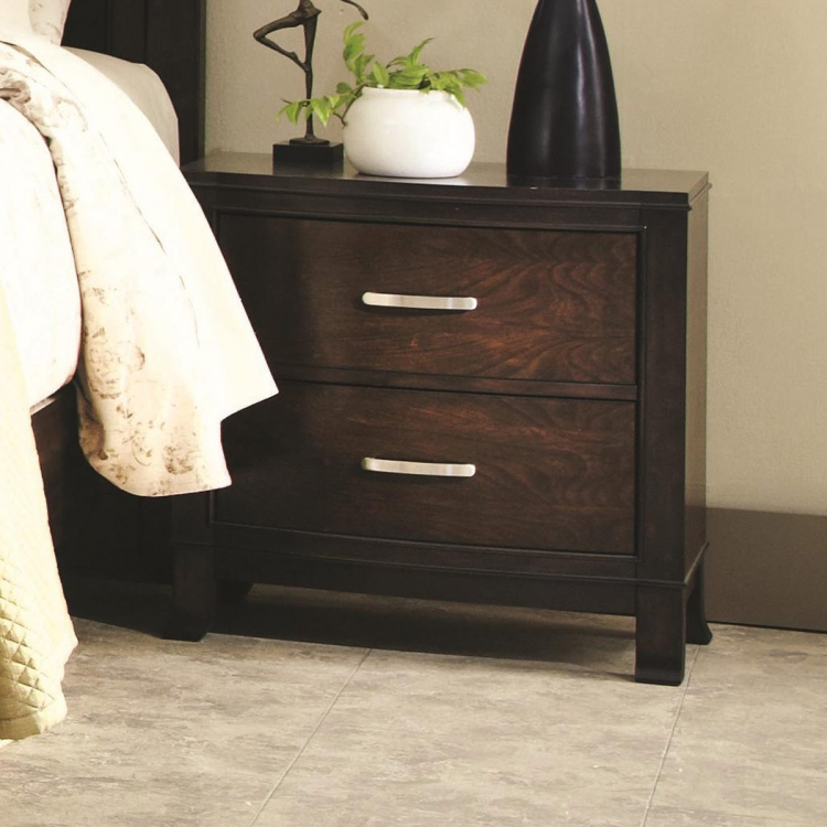 Ingram Night Stand - Antique Brown