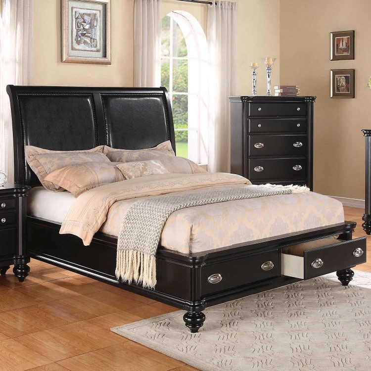 Lady Valerie Bed - Black