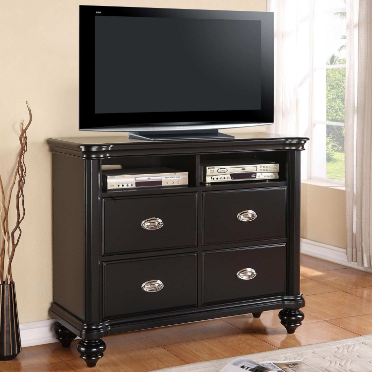 Lady Valerie Media Chest -Black