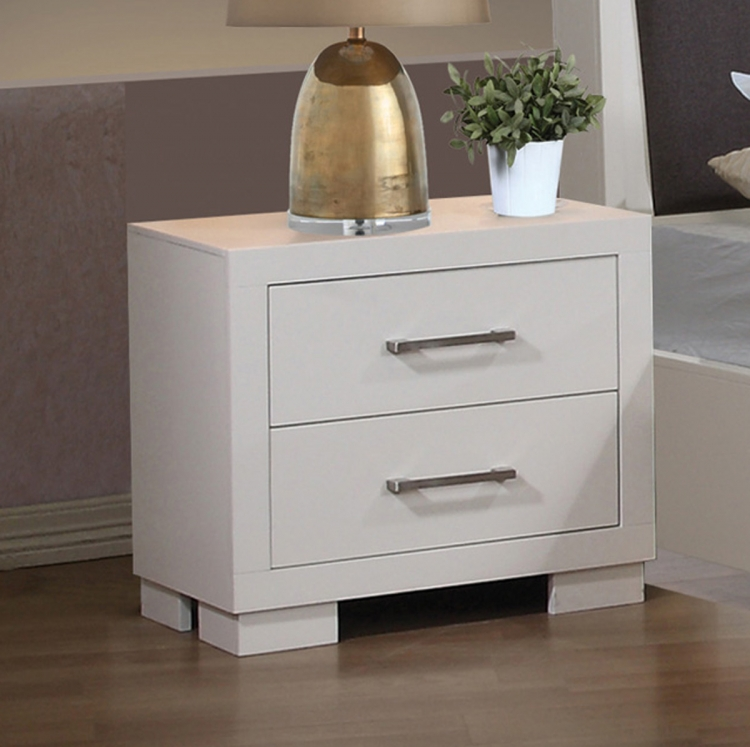 Jessica Night Stand - White