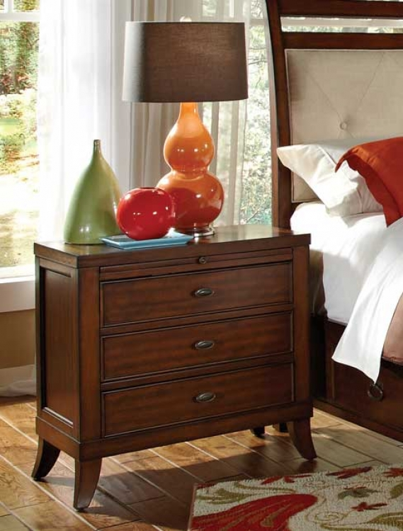 Ortiz 3 Drawer Night Stand - Cherry