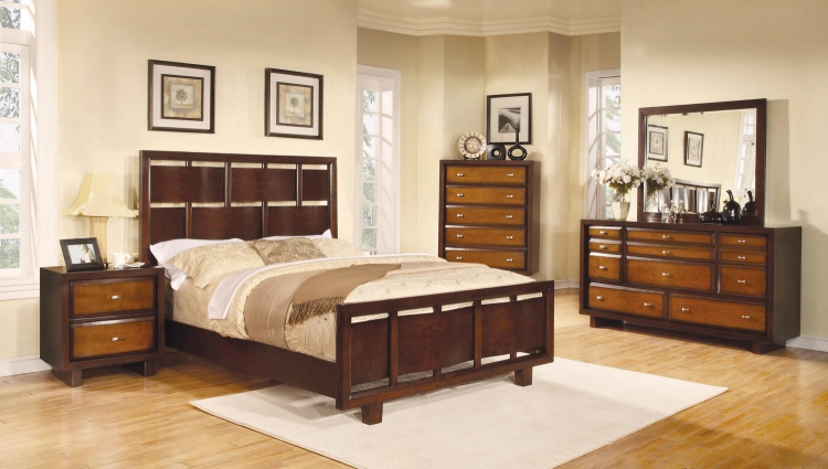 Nelson Bedroom Collection - Oak/Brown/Cherry