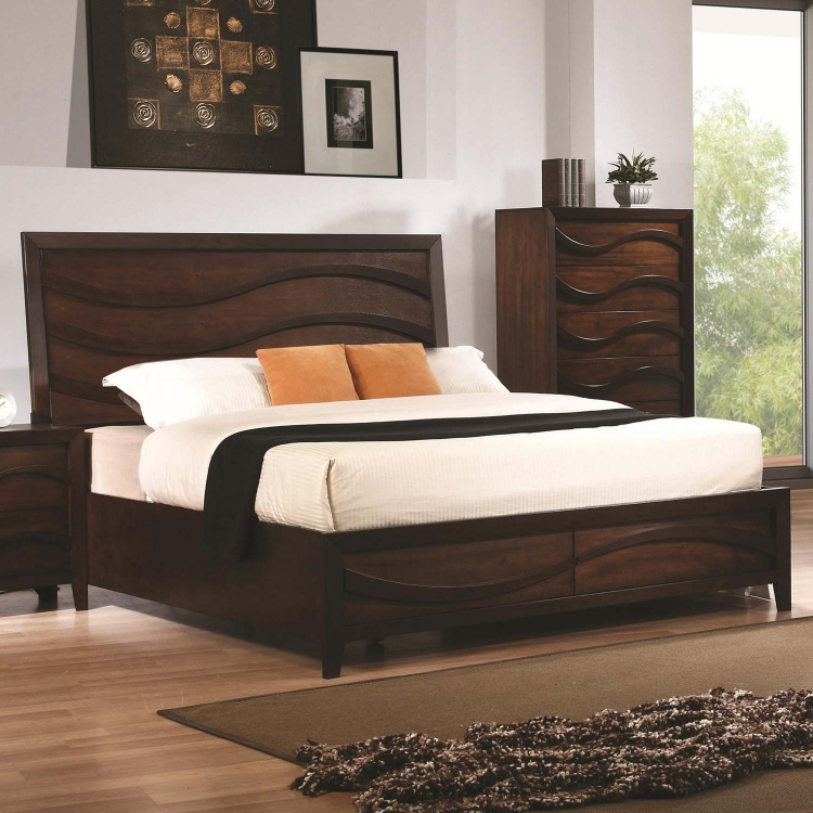 Loncar Bed - Java Oak