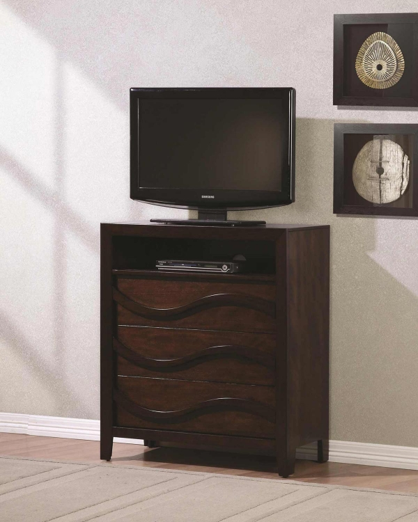 Loncar Media Chest - Java Oak