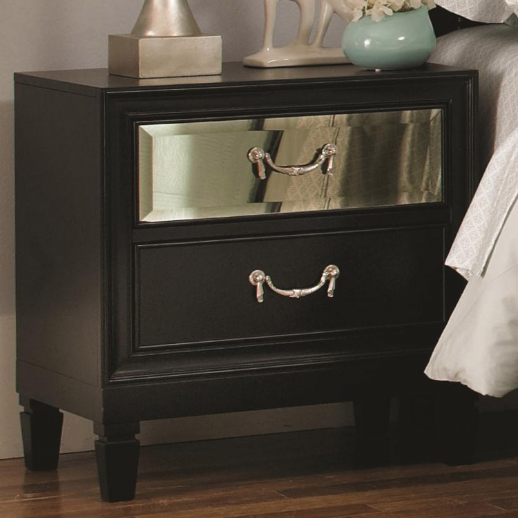 Devine Night Stand - Black