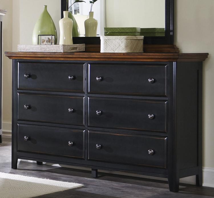 Mabel Dresser - Medium Oak/Black
