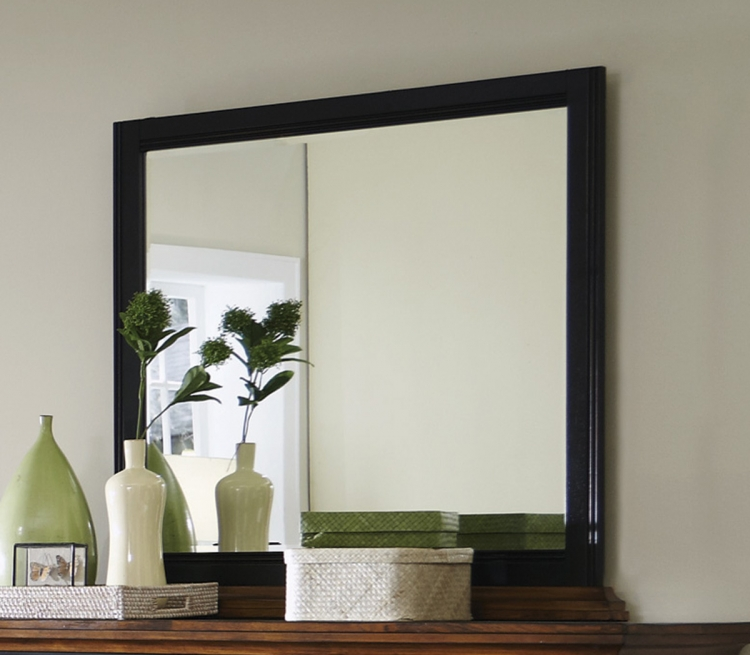 Mabel Mirror - Medium Oak/Black