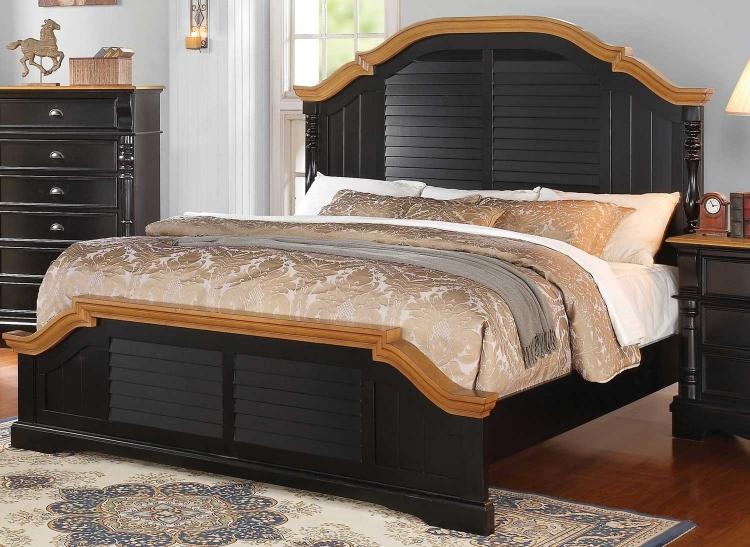 Oleta Bed - Black/Oak