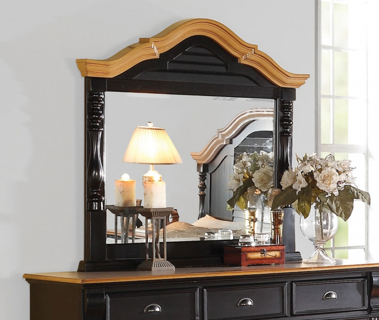 Oleta Mirror - Black/Oak