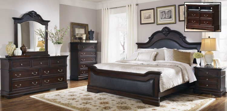 Cambridge Bedroom Set - Dark Cherry