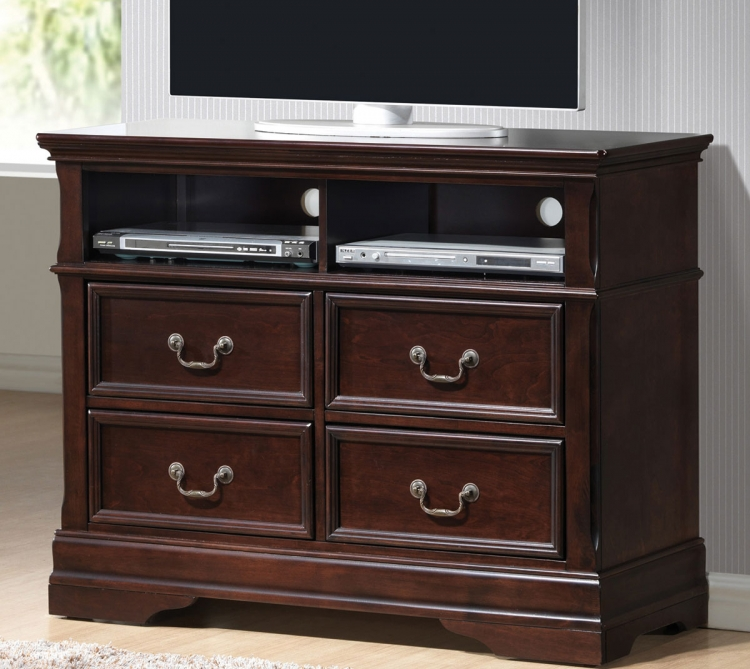 Cambridge Media Chest - Dark Cherry