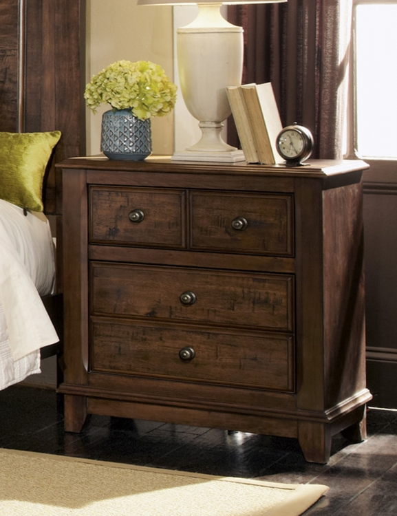 Laughton Night Stand - Cocoa Brown
