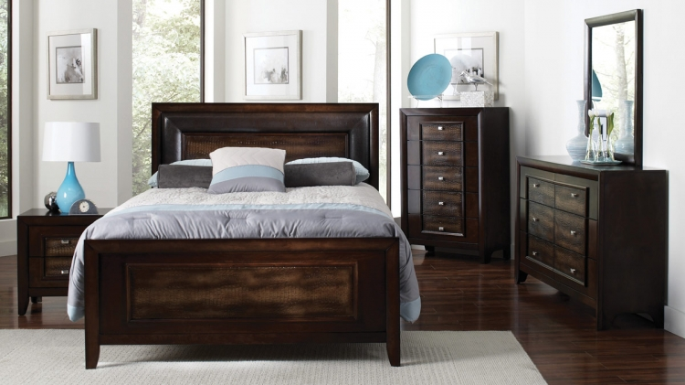 Marshall Bedroom Set - Brown Crocodile