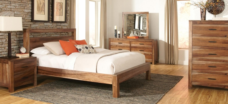 Peyton Bedroom Set - Natural Brown