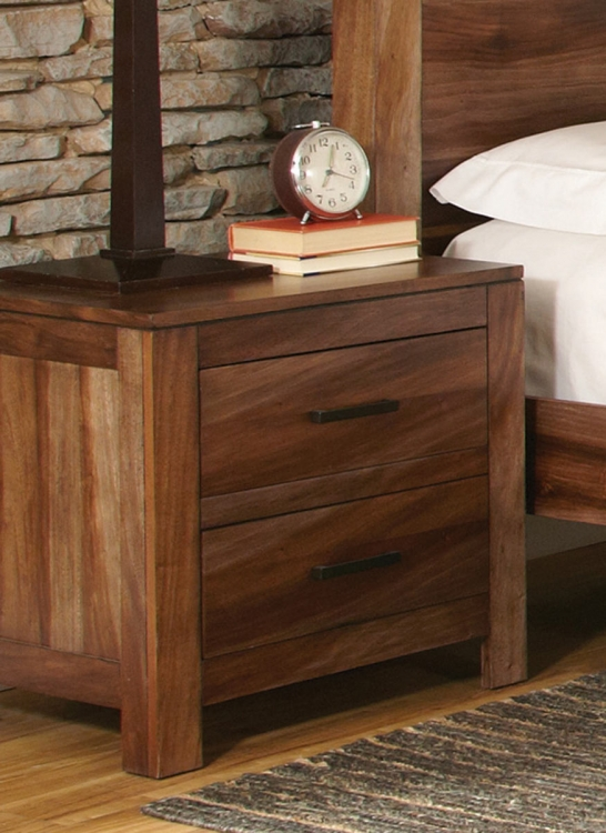 Peyton Night Stand - Natural Brown
