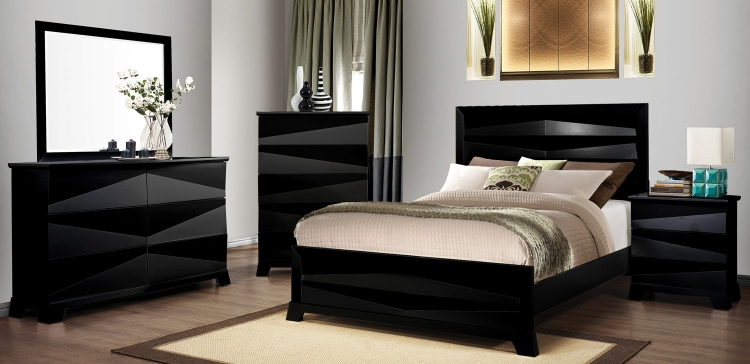 Coaster Karolina Bedroom Set - Black