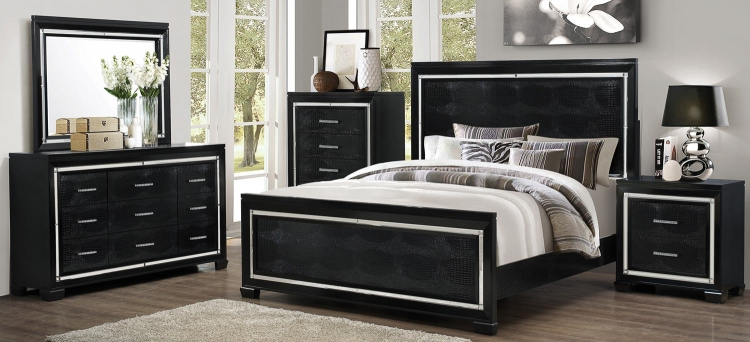 Zimmer Bedroom Set - Black
