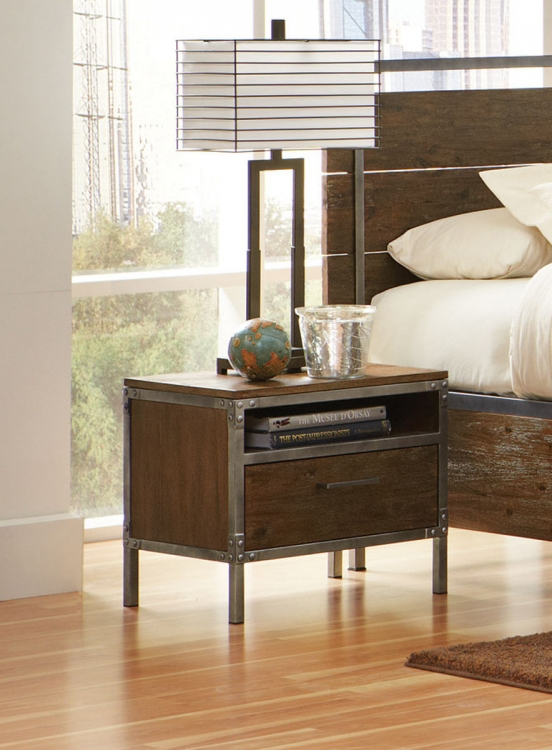 Arcadia Night Stand - Weathered Acacia