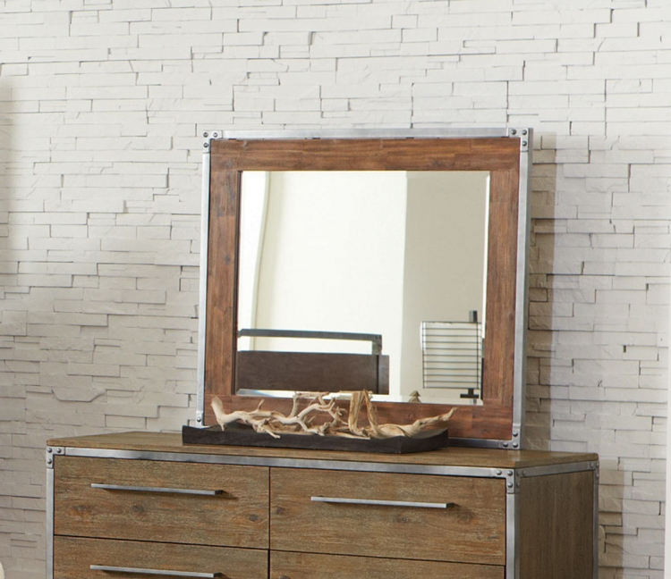 Arcadia Mirror - Weathered Acacia
