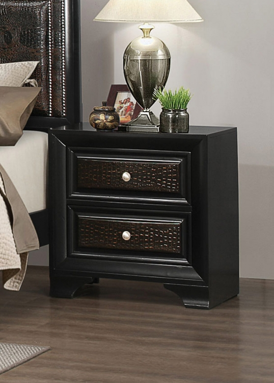 Delano Night stand - Rubbed Black