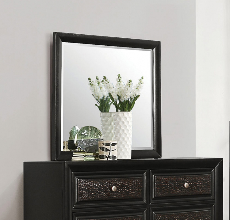 Delano Mirror - Rubbed Black