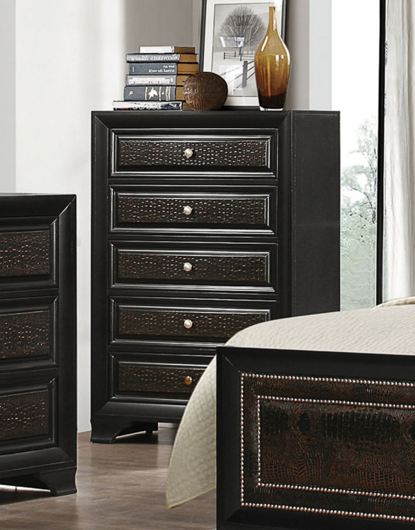 Delano Chest - Rubbed Black