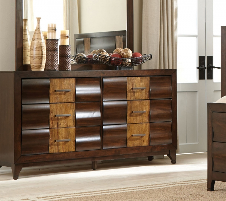Dublin Dresser - Brown Oak/Dark Forest