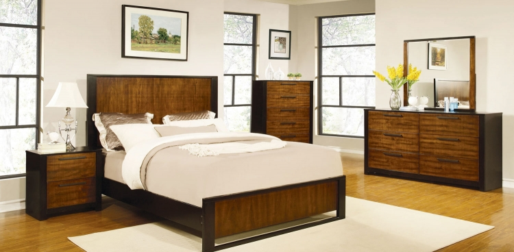 Coronado Bedroom Collection - Natural Cherry/Cappuccino
