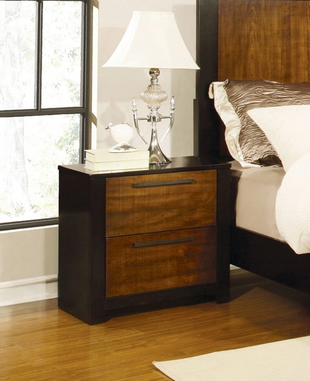Coronado Night stand - Natural Cherry/Cappuccino