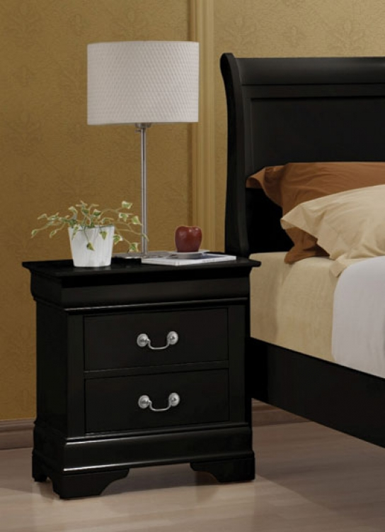 Louis Philippe Night Stand - Black