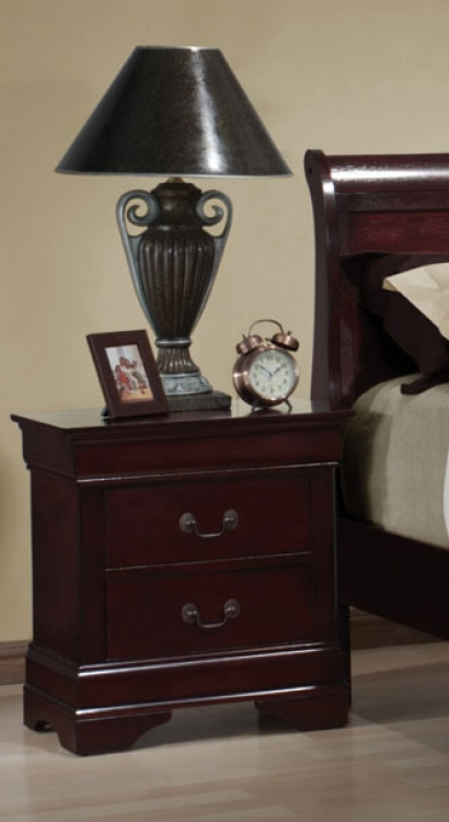 Louis Philippe Night Stand - Cherry - Coaster