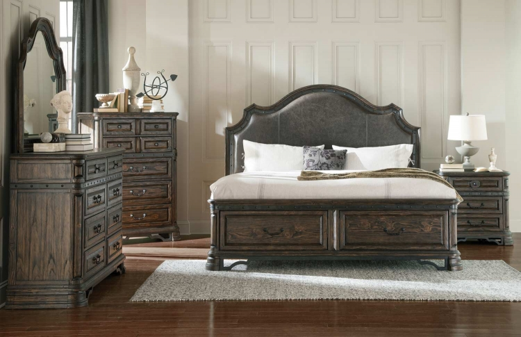 Carlsbad Platform Storage Bedroom Collection - Dark Brown
