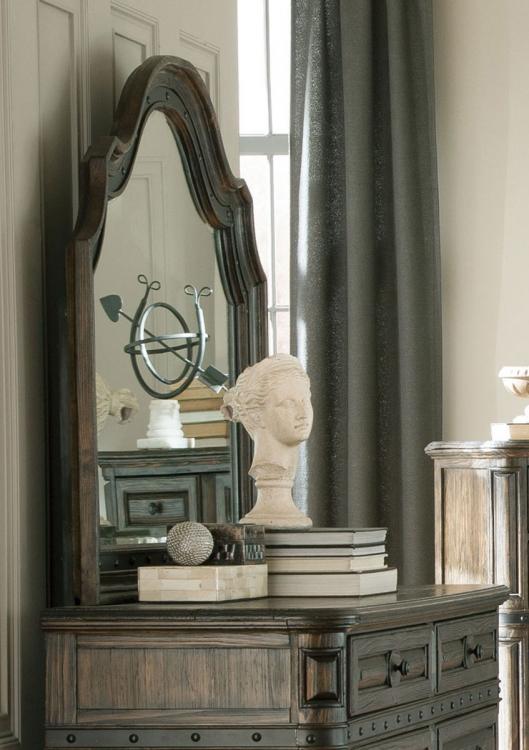 Carlsbad Beveled Mirror - Dark Brown