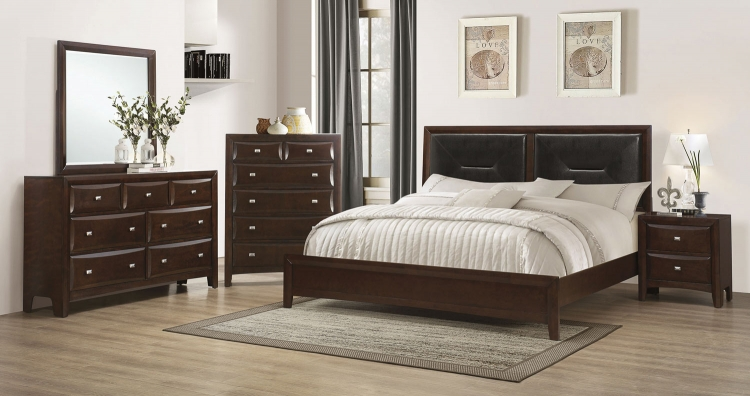 Cloverdale Upholstered Bedroom Collection - Cappuccino