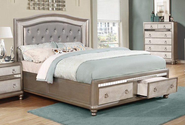 Bling Game Bed - Metallic Platinum