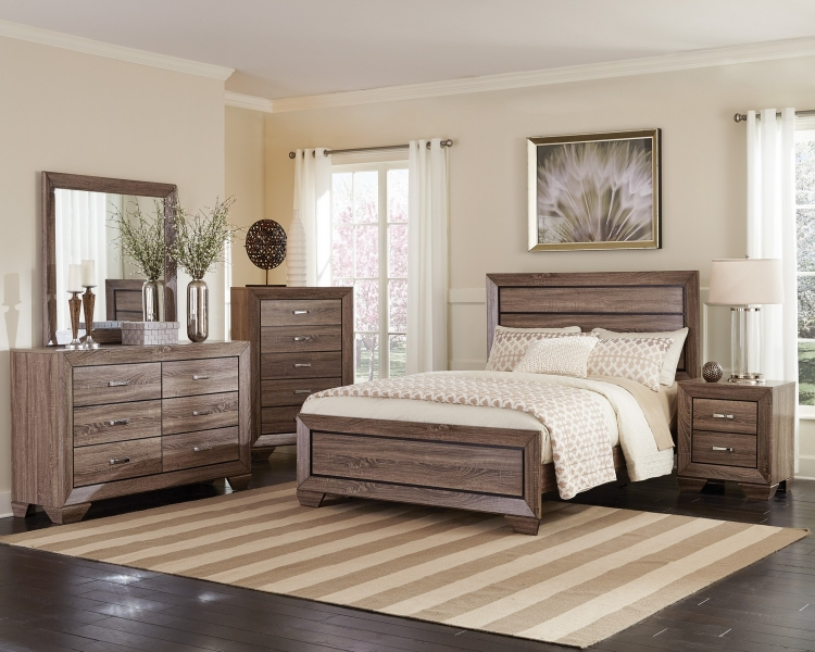Kauffman Bedroom Collection - Washed Taupe