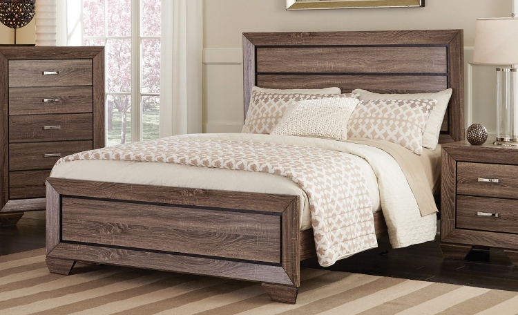 Kauffman Bed - Washed Taupe
