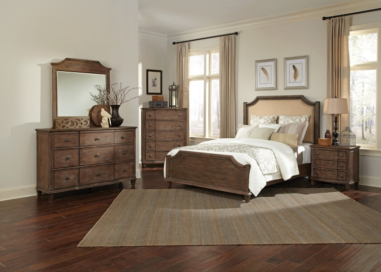 Dalgarno Bedroom Collection - Wire Brushed Mushroom