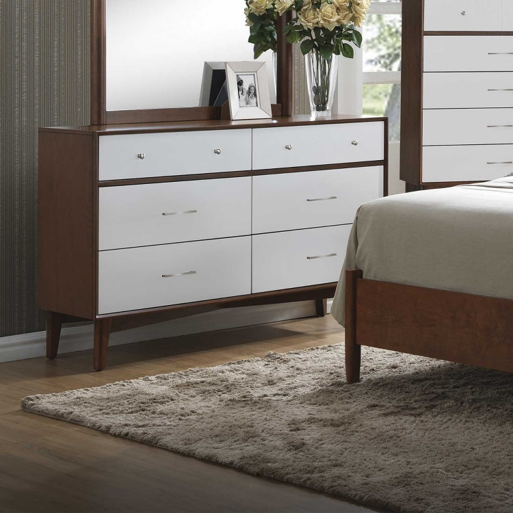 Oakwood Dresser - Golden Brown/White