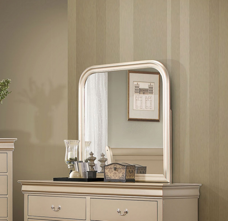 Hershel Louis Philippe Mirror - Metallic Champagne