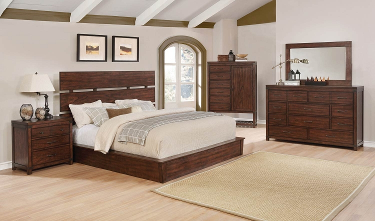 Artesia Platform Bedroom Set B - Dark Cocoa