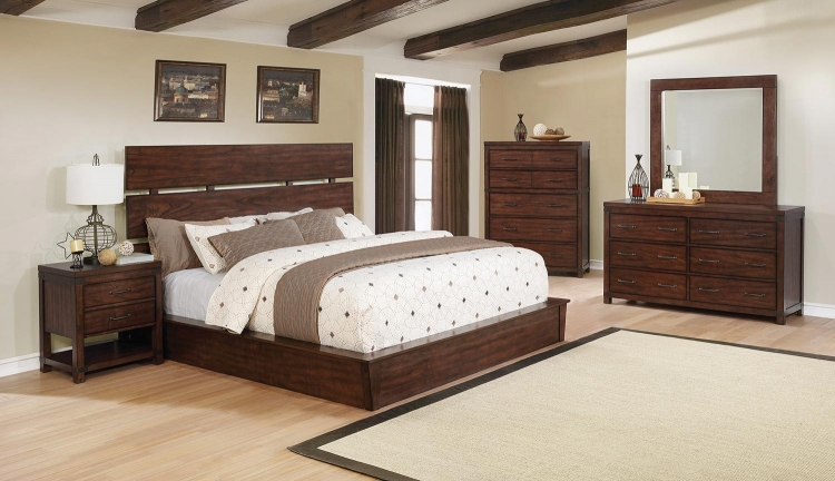 Artesia Platform Bedroom Set A - Dark Cocoa
