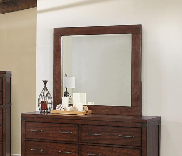 Artesia Mirror for 6 Drawer Dresser - Dark Cocoa
